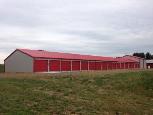 Red Colors Storage Building